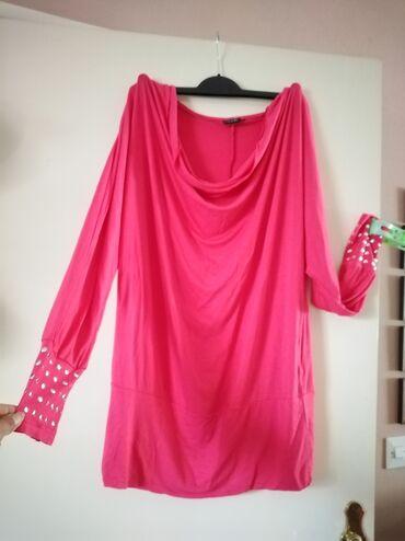 Duga haljina - Srbija: Tunika za krupnije dame, dugačka pa može na helanke kao haljina, nije