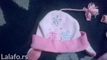 Decije-jakne - Srbija: Dve vrlo lepe kape roze boje.za decu 4-5 god.pogledajte i ostale