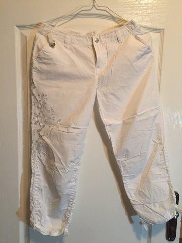 SNIŽENO!!!!! Amisu jeans kapri bele pantalone sa čipkom. Odgovaraju - Crvenka