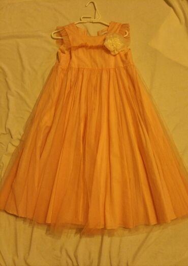 plate na 10 11 let в Кыргызстан: Платье из Кореи Красивое нежное платье на девочку 7-9 лет, персикового