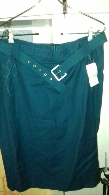 Φούστα κλασική μάλλινο ύφασμα μέγεθος Large καινούργια με το ταμπ