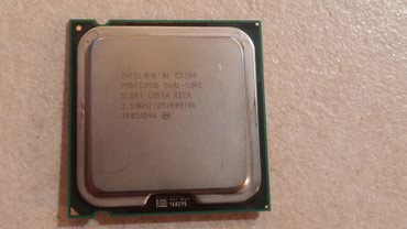 Процессор Intel Pentium Dual Core E5200, 2,5 Ghz, 775 сокет, б/у в Бишкек