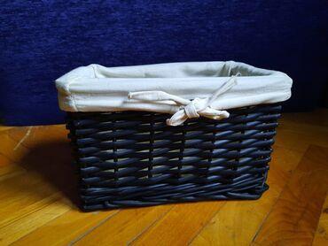 Ukrasna pletena korpa  Dimenzije: 24x16, dubina 15cm
