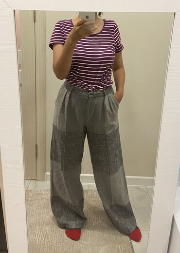 Тренд этого года штаны трубыРазмер: наш 29-30,L,турецкий 40Состояние