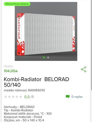 İstehsalçı - BELORAD 50/140Tip - Kombi - Radiator Maksimal istilik