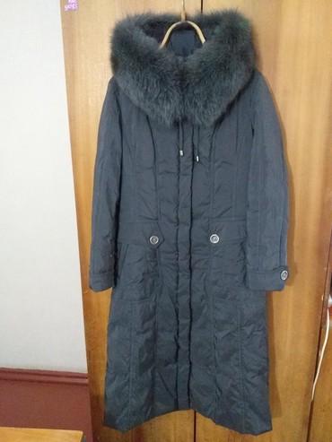 Пальто - Кок-Ой: Продаю зимнее пальто в хорошем состоянии. С капюшоном. Мех отстёгивает