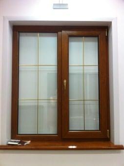 Пластиковые окна цвет Золотой дуб. Изготовим окна любого размера и