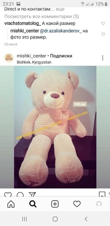 Мишка Белый ангел !!! Мишки медведи дешево! Аю арзан дун баада!!! в Бишкек