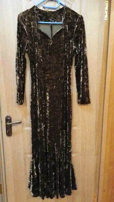 Продаю вечернее платье. бархат стреч. в Бишкек