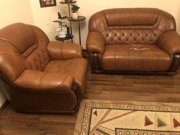 Продаю мягкий натур.кожанный диванный в Кок-Ой
