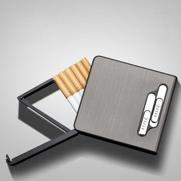 зажигалки zippo в Кыргызстан: Сигаретница с импульсной зажигалкой————–—••——————Качество Вес 123