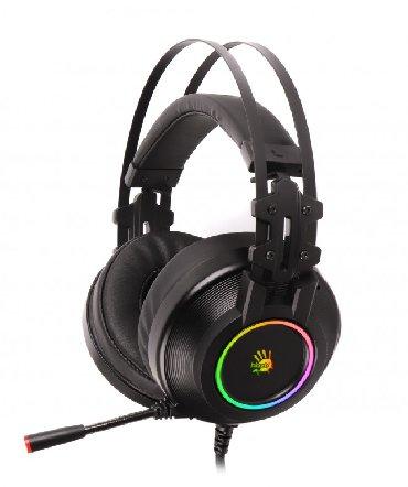 Наушники с микрофоном A4Tech BLOODY USB HiFi Tone Control Surround 7.1