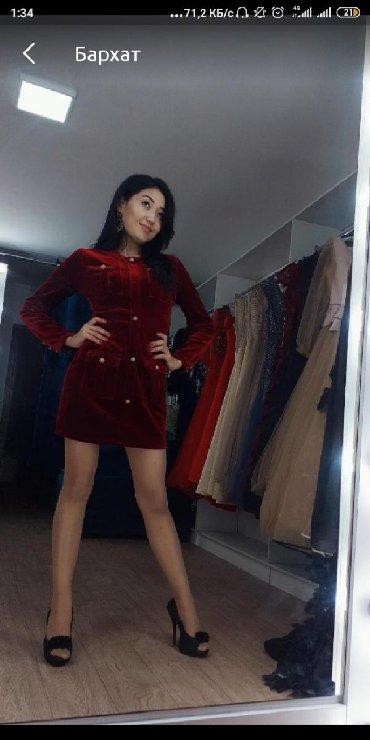 платье бархатное в Кыргызстан: Продается бархатное платье