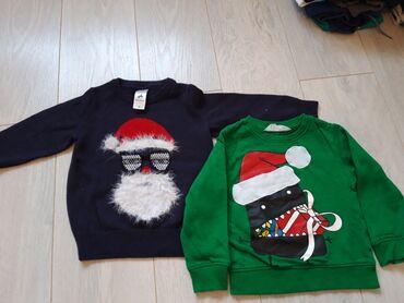 Dečija odeća i obuća - Ruski Krstur: Praznični džemper C&A i duks H&M veličina 98