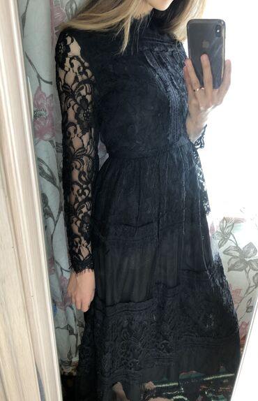 французский квартал бишкек in Кыргызстан | ПРОДАЖА КВАРТИР: Чёрное платье французской длины, идеально сидит по фигуре. Размер s/m