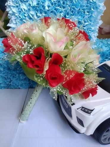 свадебная фотосъемка в Кыргызстан: Букет из атластных лент цветы букеты бишкек букет невесты свадебные