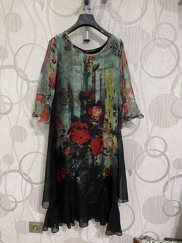 Очень красивое платье свободного кроя 40го размера! Надевала 1 раз