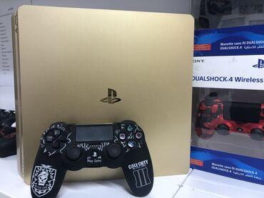 Продаем PlayStation 4 slim Gold 500Gb. В комплекте два джойстика и три