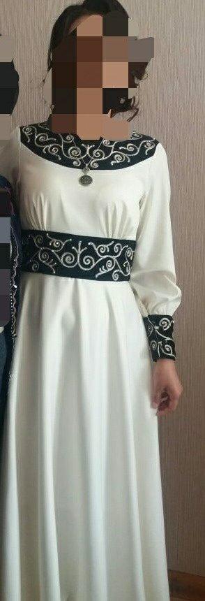 Красивое платье на кыз узатуу,размер 44, одето всего один раз в Лебединовка
