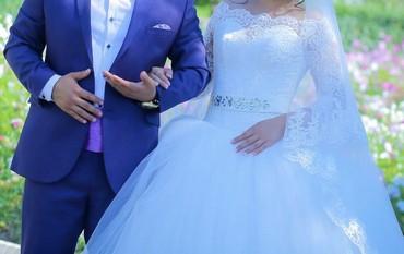 свадебное платье футляр в Кыргызстан: Продаю очень красивое свадебное платье одевалось 1раз