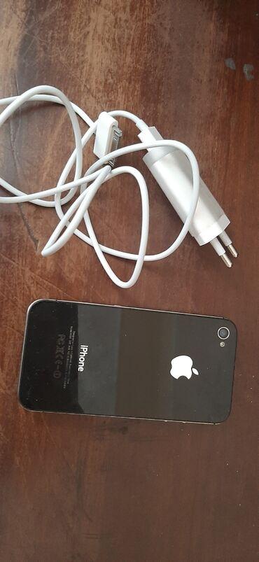 apple 4s - Azərbaycan: Iphone 4s satilir qewey vezyetdedi batareyasi teze deyiwib. adaptirida