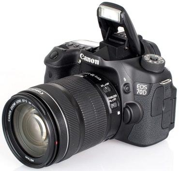 Фотоаппарат canon 70d + 18×135mm в хорошем в Бишкек