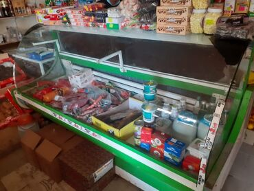 Витринный холодильник для мяса - Азербайджан: Б/у Холодильник-витрина Зеленый холодильник
