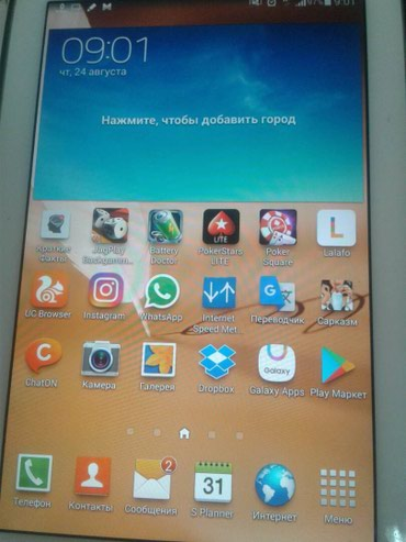 Планшет samsung Note 8. Сим карту поддерживает. дисплей 8 дюйм в Ош