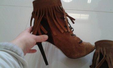 Sandale cizme otvorene napred novo izvrnuta koza spolja unutra koza - Backa Palanka