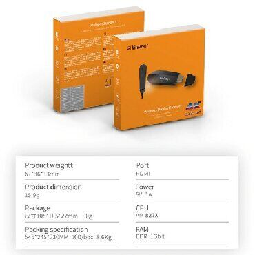 Мульти адаптер Mirascreen K6 2.4G/5G, WI Fi, 4K видео в реальном