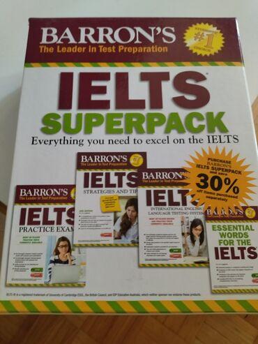 Sport i hobi - Srbija: Barron's IELTS superpack/cetiri knjige i cetiri Cd-a /