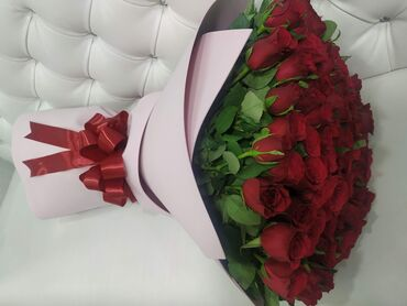 БУКЕТ ИЗ 101 РОЗЫСвежие цветыКреативное оформление Упаковка подарков