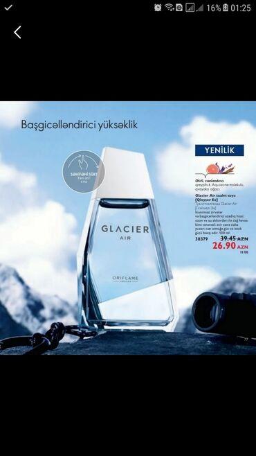 Ətriyyat - Azərbaycan: Oriflame brendinden kishiler üçün möhteşem GLACIER AIR etri.Kataloqdan