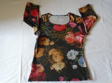 Majica sl sa - Srbija: Majica sa cvetovima, Afrodita mode collection, nošena ali može još da
