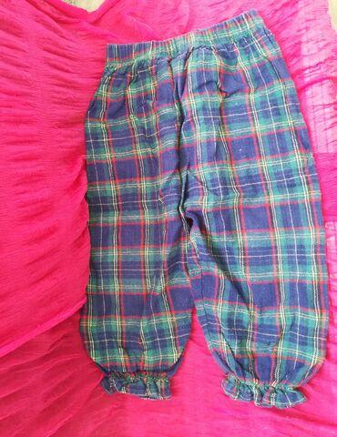 Guess-jeans-karirane-pamuk - Srbija: Zanimljive karirane pantalone za uzrast 1-2 god, vel 172, obim struka