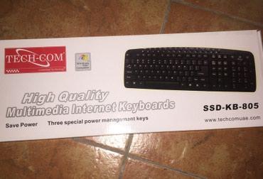 Keyboard TECH-COM SSD-KB-805 (USB, Black) в Бишкек