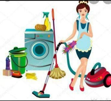 уборщица подработка в Кыргызстан: Делаем уборку квартир и домов ●генеральная ●влажная●после