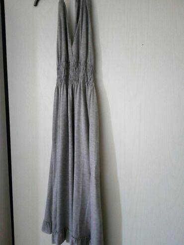 Haljine   Bogatic: Letnja pamucna haljina bez ledja. Sive boje M-L velicina. Kvalitetna