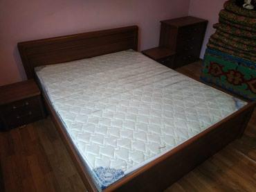 Продаем кровать с двумя тумбами и в Бишкек
