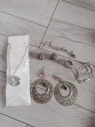 Srebrni set nakita, ogrlica i mindjuse - Sjenica