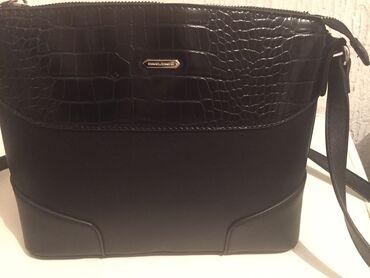 Nova crna torbica David Jones,samo skinuta etiketa