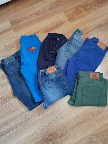 Dečija odeća i obuća - Barajevo: 7 komada panatalona za decaka. Velicina 10/12. Ocuvane bez ostecenja
