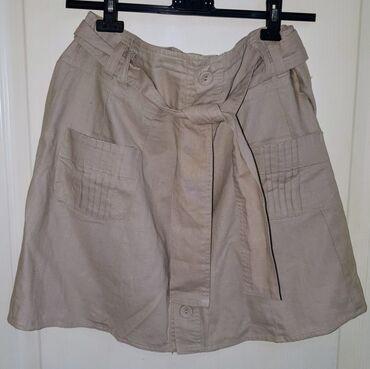 Lanena suknja A kroja