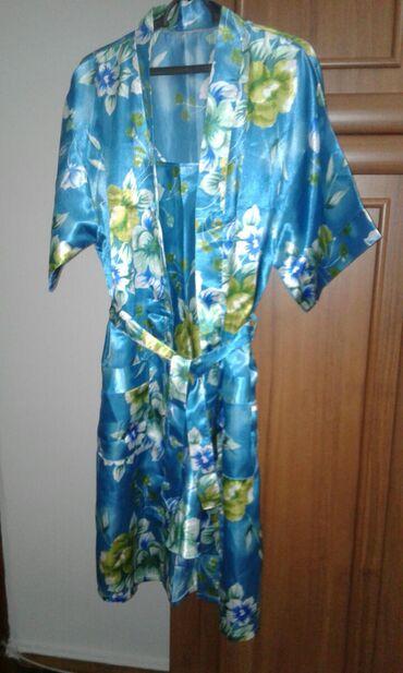 женское платье халат в Кыргызстан: Продаю очень нарядный красивый актуальный новый комплект -халат