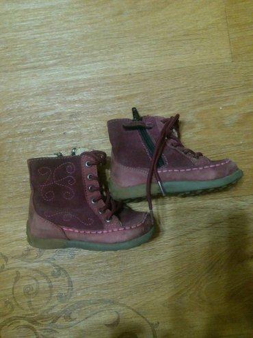 ботиночки деми,полуутепленные.Размер 21.Натуральная замша. в Бишкек