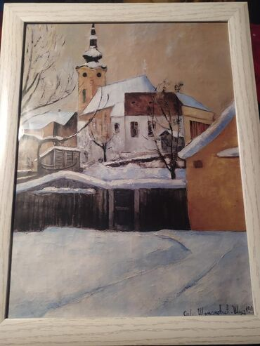 """  Sremska Mitrovica: Slika naseg poznatog slikara Save Sumanovica,,Crkva Sid 1940"""""""