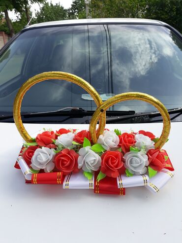 украшения под водолазку в Кыргызстан: Кольца на авто, украшение свадебной машины. Прокат Работаю без