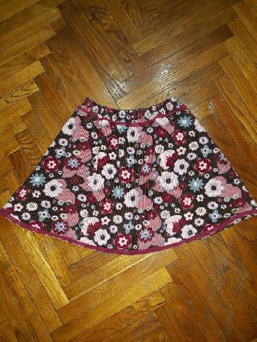 Primanella somotska haljinica - Srbija: Suknja, velicina za 6-7 godina. Somot suknjica, kao nova