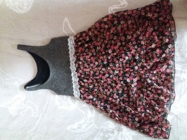 Платье-сарафан. вязка+шифон. надели 1 в Лебединовка