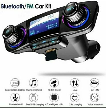 Auto bežični Bluetooth FM predajnik  MP3 plejer USB SD LCD Daljinski h